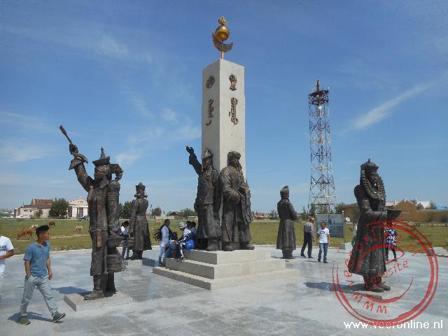 Naast het Russische monument worden ook de Mongoolse slachtoffers herdacht