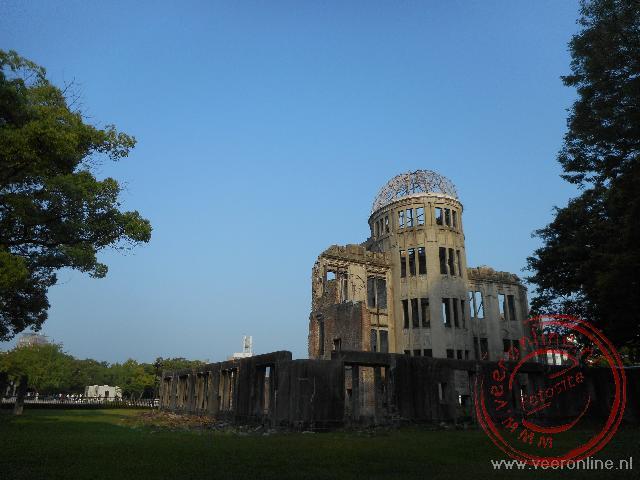 De Atoombomkoepel is het enige gebouw dat de atoomaanval doorstaan heeft