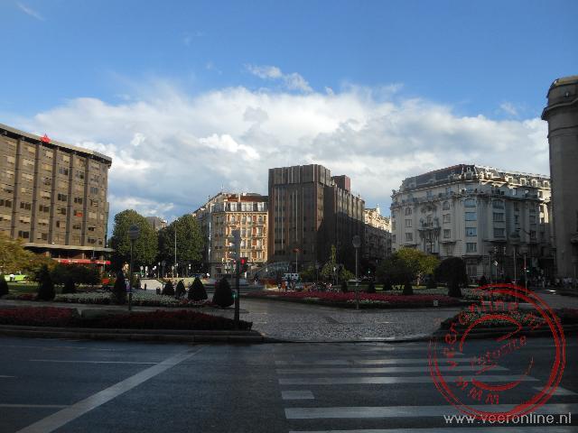 Het centrale plein in Bilbao