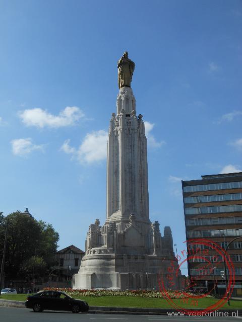 Het monument op de Plaza del Sagrado Corazón de Jesús