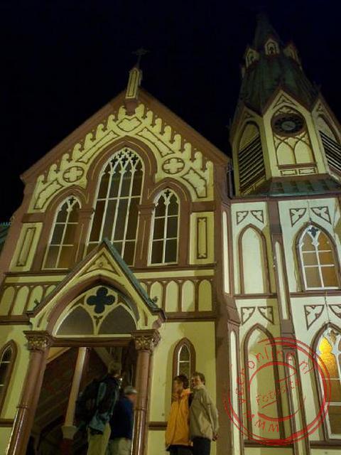 De San Marcos kerk van Arica ontworpen door Gustav Eiffel.