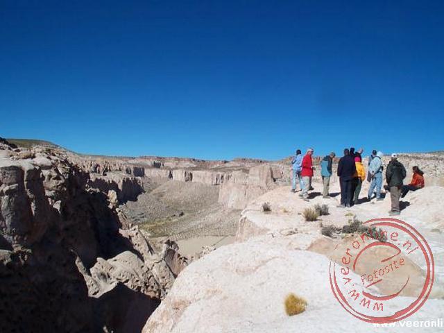 Het uitzichtpunt over de Canyon