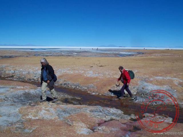 Een wandeling langs het zoutmeer