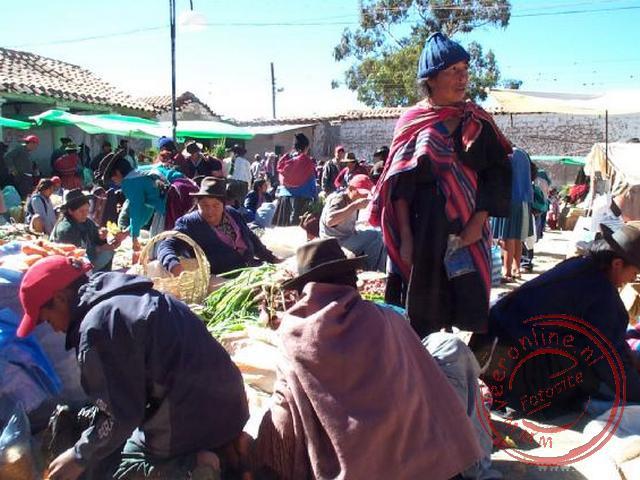 De zondagsmarkt van Tarabuco