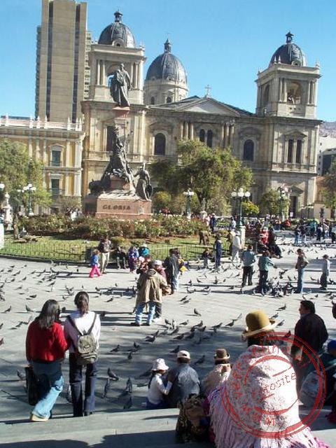 De Kathedraal aan het Plaza Murillo