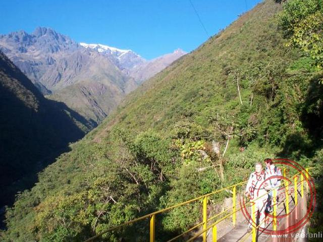 Het eindpunt van de tocht op 2.000 meter.