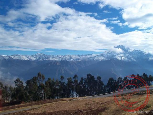 Op weg naar de inka-trail moest dit prachtige beeld vastgelegd worden