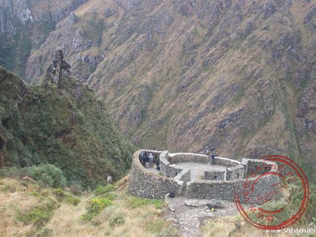 Het ruinecomplex Runkuraqay op 3.600 meter hoogte