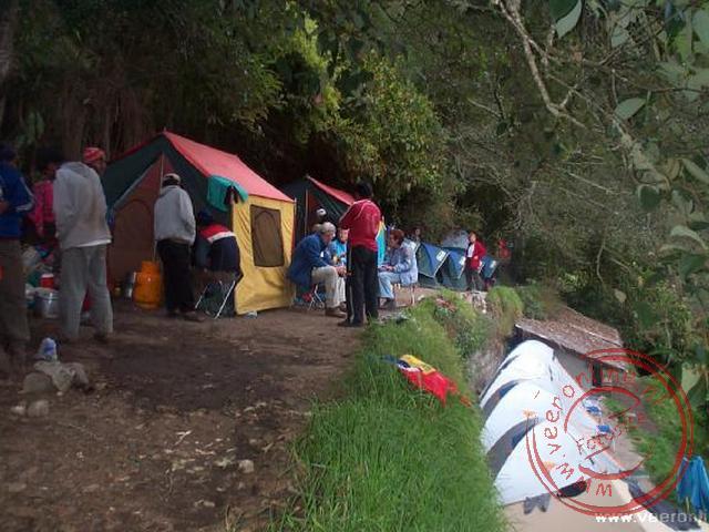 De camping bij Winaywayna