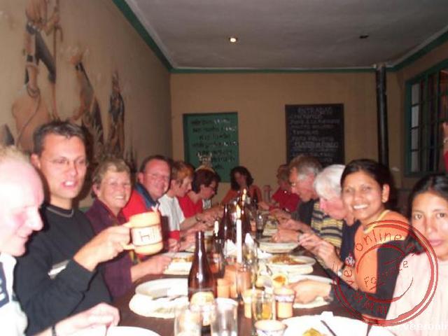 Op de laatste avond met de hele groep genieten van het Peruaanse buffet.