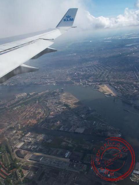 De aankomst in Nederland met uitzicht op Amsterdam !