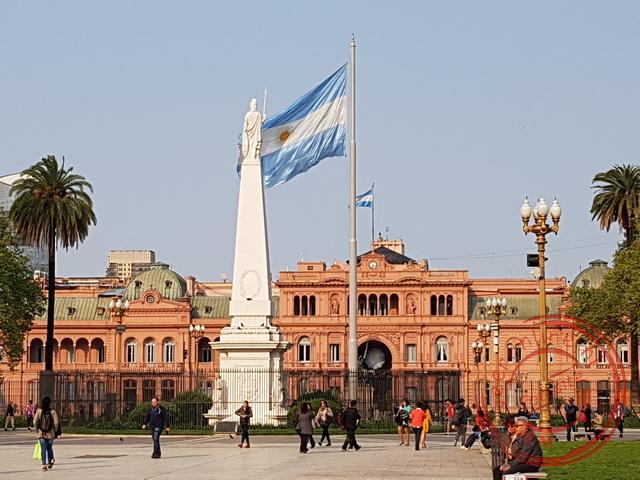 Het paleis aan de Plaza de Mayo in Buenos Aires