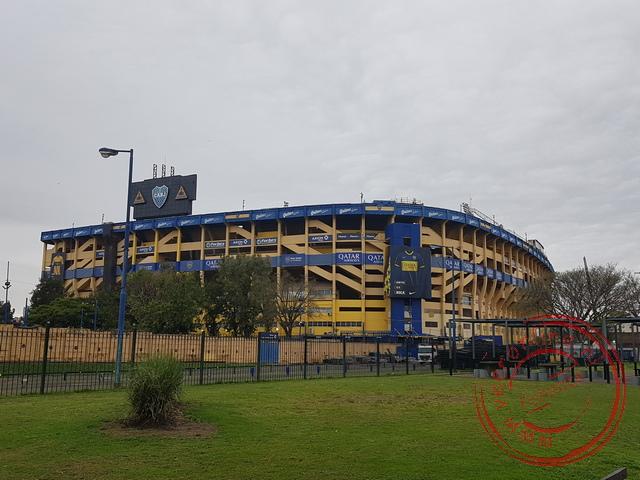 Het kleurrijke stadion van de Boca Juniors