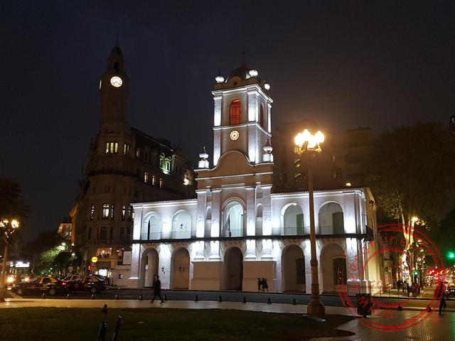 Het koloniale El Cabildo aan de Plaza de Mayo