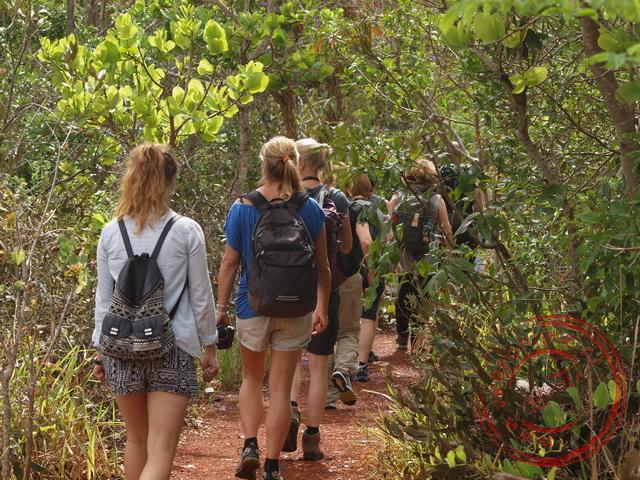 Op weg naar de sinkhole in Bonito
