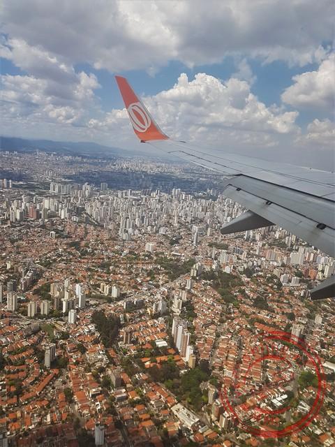 De miljoenenstad Sao Paulo vol wolkenkrabbers