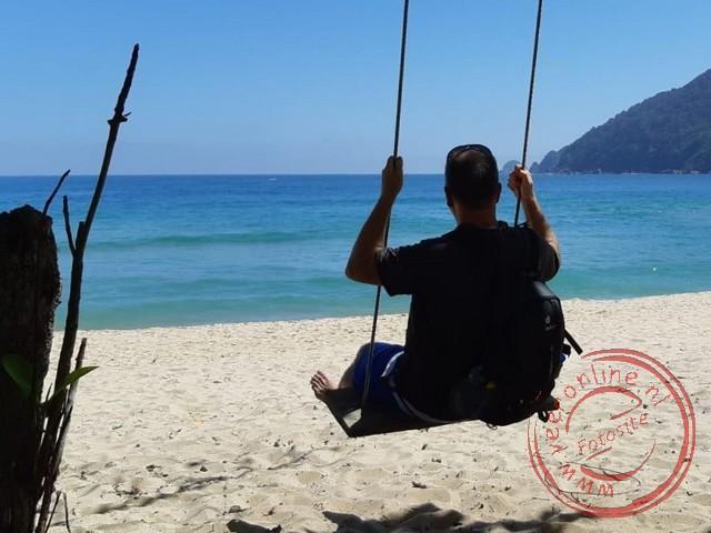 Uitzicht op het Praia do Sono strand