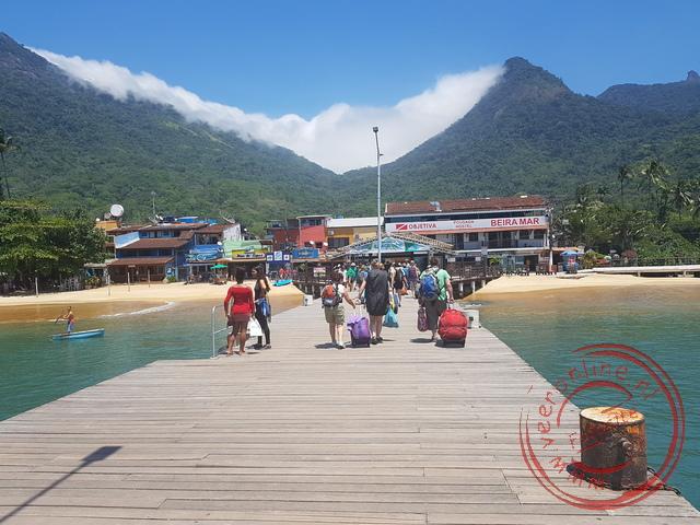 De aankomst op het eiland Ilha Grande