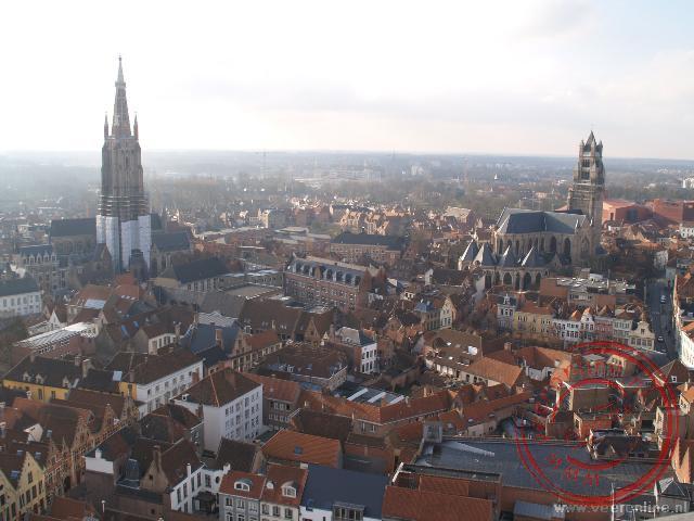 Uitzicht vanaf de Belfort over Brugge