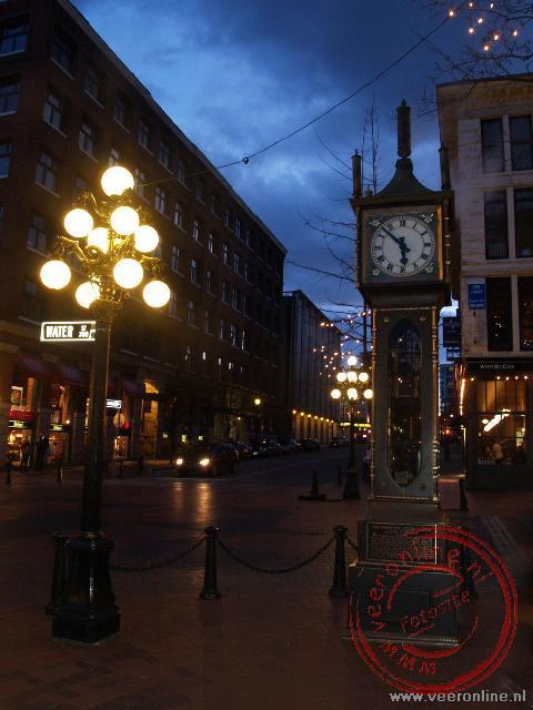 De stoomklok in Gastown Vancouver