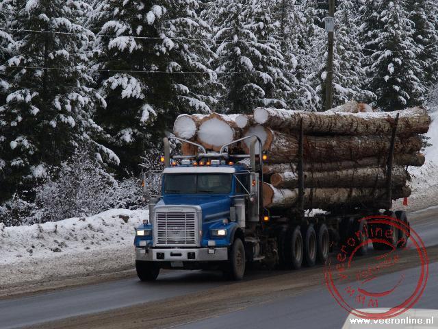 Het zware vrachtverkeer rond clearwater