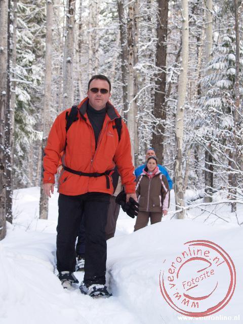 Ronald op sneeuwschoenen