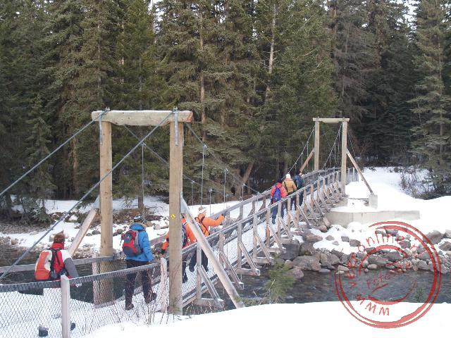 De brug aan het begin van de Icewalking