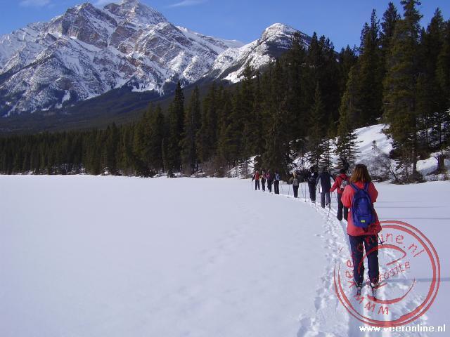 Cross country op het bevroren meer