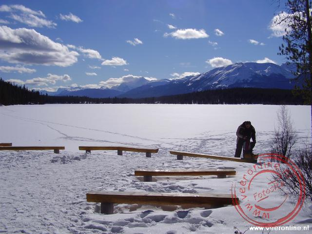 Canadian Rocky Mountains - De lunchplek aan het Pyramide Lake