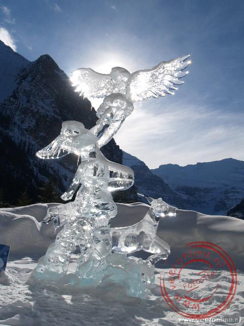 Canadian Rocky Mountains - IJssculpturen bij Lake Louise