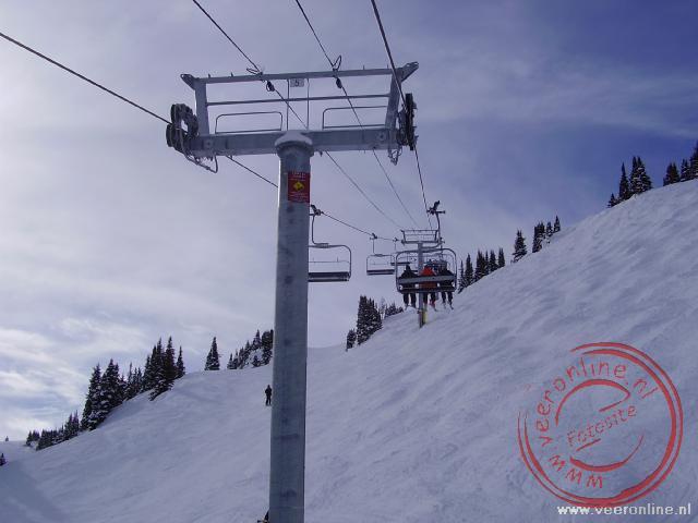Skiën in Canada in het skigebied Sunshine in Banff, Alberta