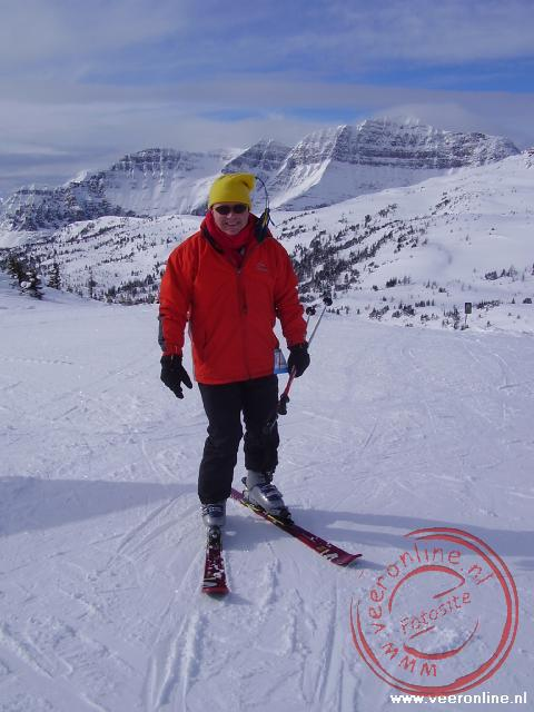 Canadian Rocky Mountains - Ronald op de ski's in Canada