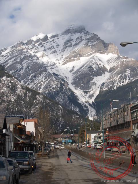 De mainstreet van Banff, Canada