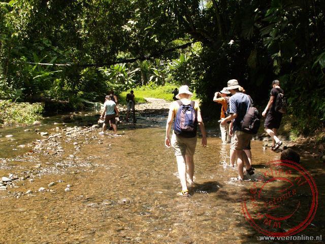 Wandeling naar de waterval