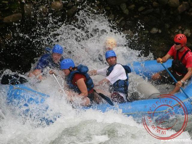 Het raften over de Rio Sarapiqui