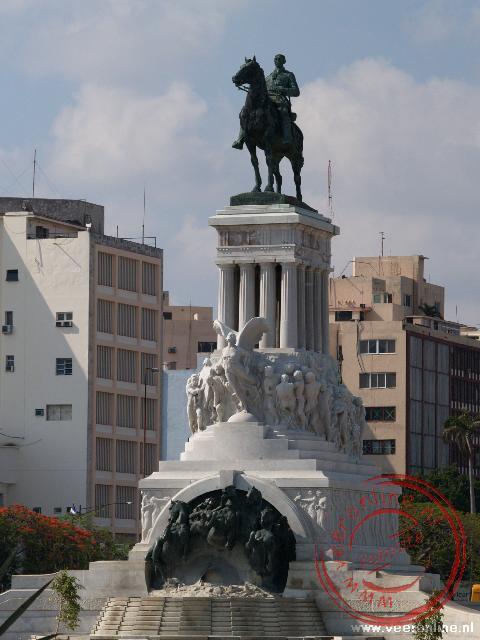 Het standbeeld van Generaal Máximo Gómez