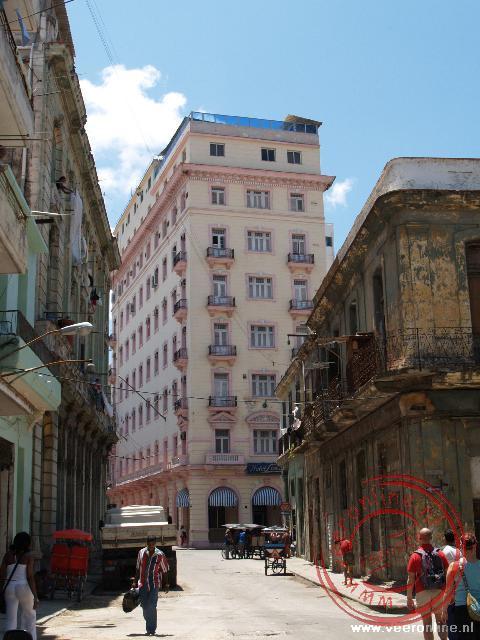 Het hotel in de wijk Centro Habana