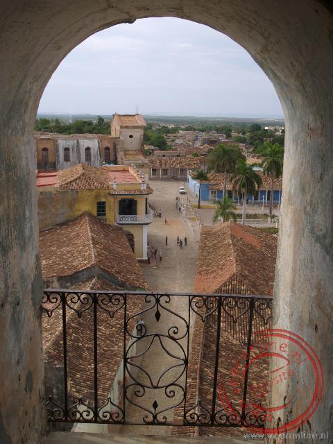 Het uitzicht over de daken van Trinidad