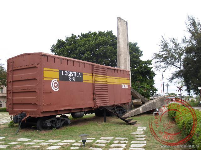 Het monument voor de overwinning in 1958 door de rebellen van Ché Guevara op de troepen van dictator Batista.