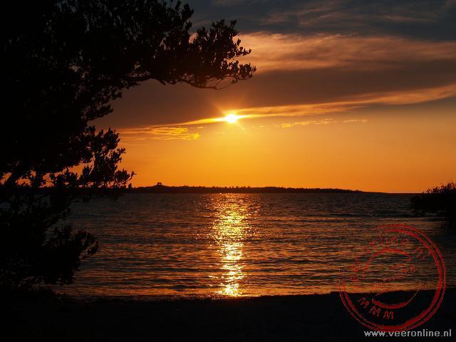 De zonondergang (sunset) bij Cayo Coco, Cuba