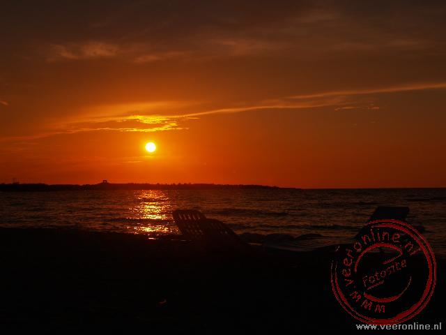 Zonsondergang bij Cayo Coco