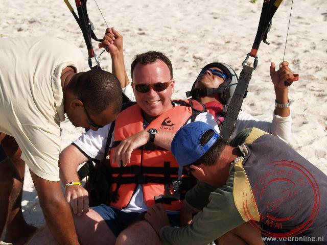 Klaar om op te stijgen met de parachute