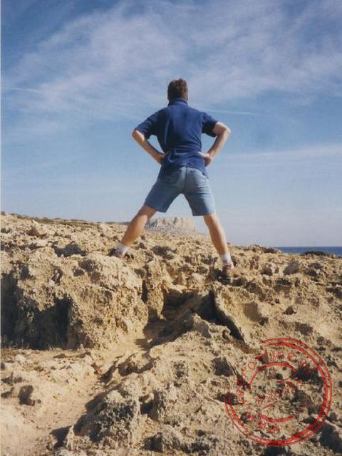 Geert, met in de verte ons einddoel: de rotspunt