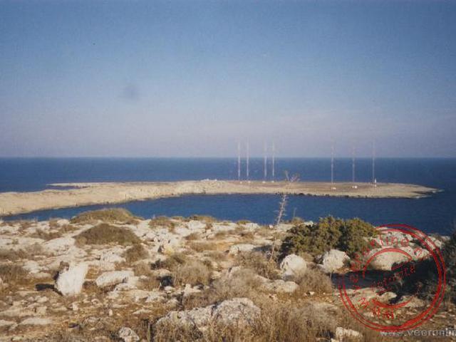 De uiterste zuid-west punt van Cyprus