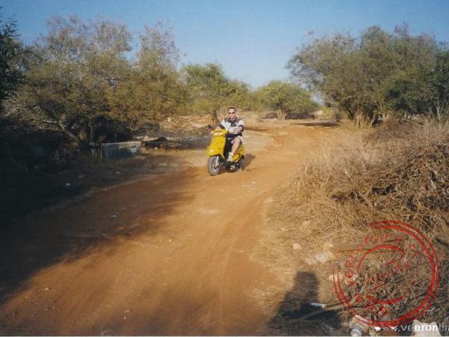 Op de zandwegen terug naar Ayia Napa