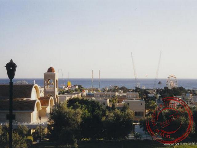 Overzicht over het stadje Ayia Napa