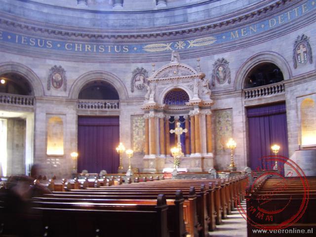 Het interieur van de Marmorkerk