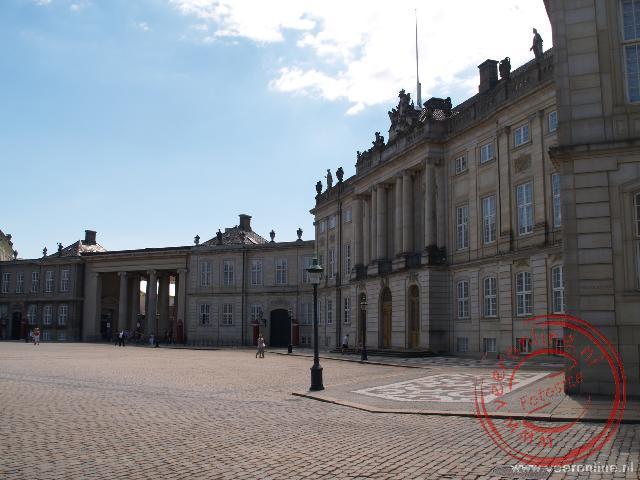 Het plein bij het Amalienborg Paleis