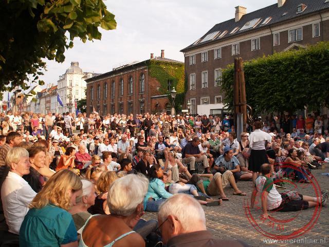 Publiek bij het jazz festival
