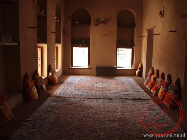 Een ruimte in het Nizwa fort